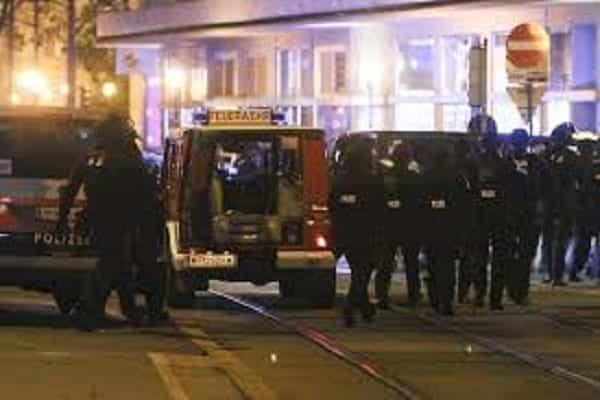 Austria Police at Terror venue