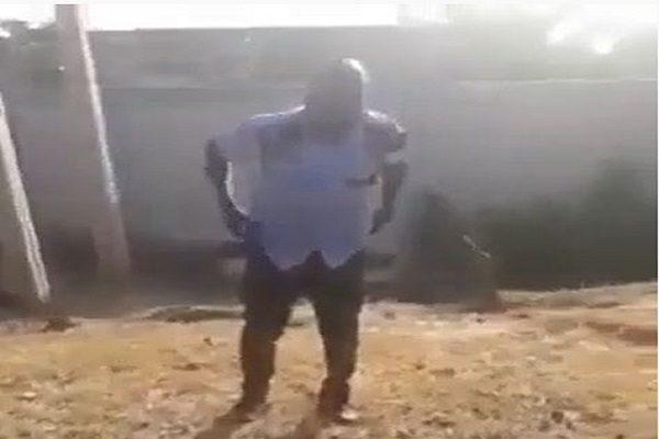 Drunken Officer Garuba Salisu in Abuja