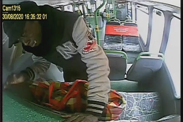 Image of the suspect on the bus in Camden