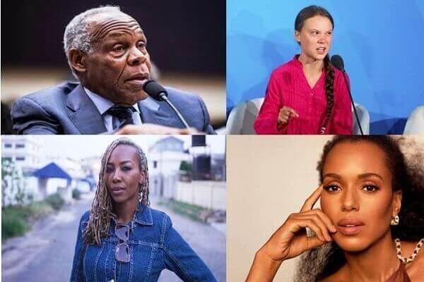Kerry Washington, Opal Tometi, Danny Glover, Greta Thunberg
