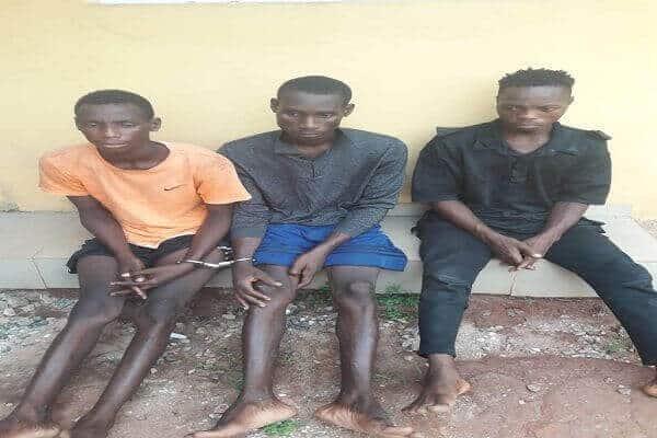 Kingsley Innocent, Hope James Elijah and Samuel Effiong