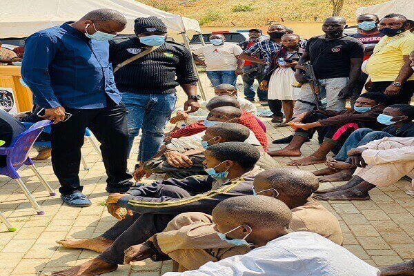 Suspects Paraded by the police
