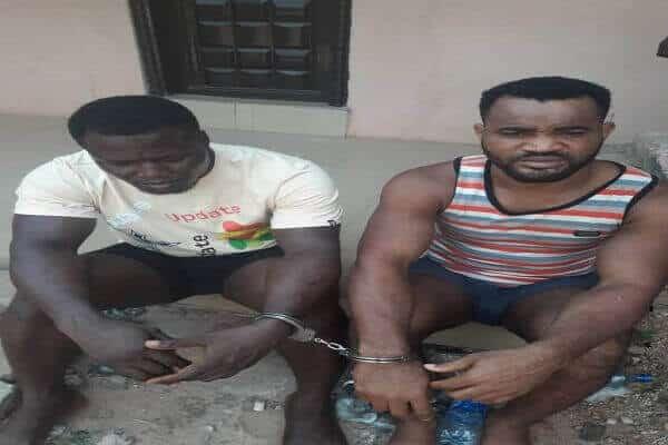 The suspects, Moses Oghenevbo and Batholomew John