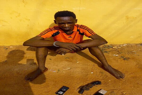 Innocent Aghimien Robbery suspect caught at the scene of the crime