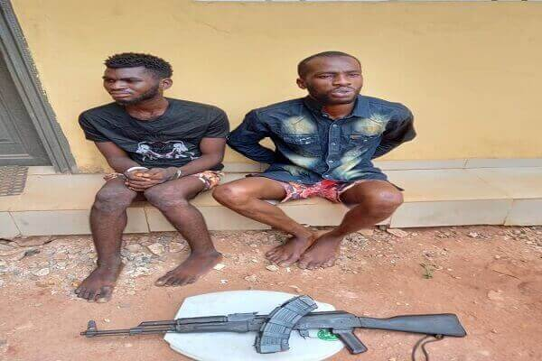 The suspects, Samson Ibiweh and Philip Chirer