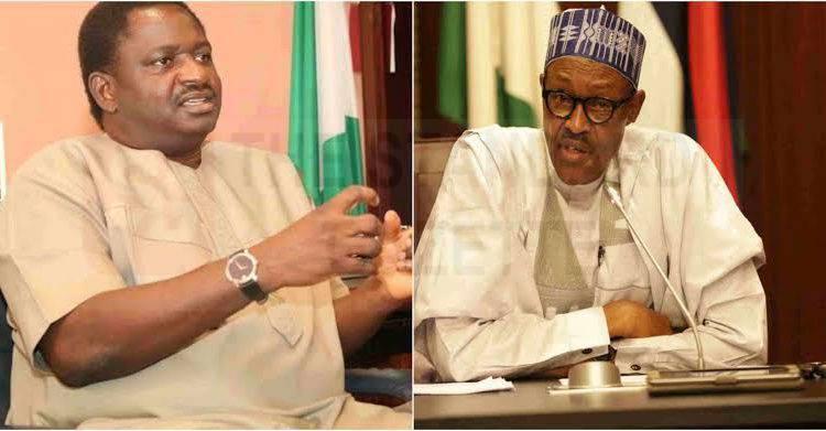 Femi Adesina and Mumammadu Buhari