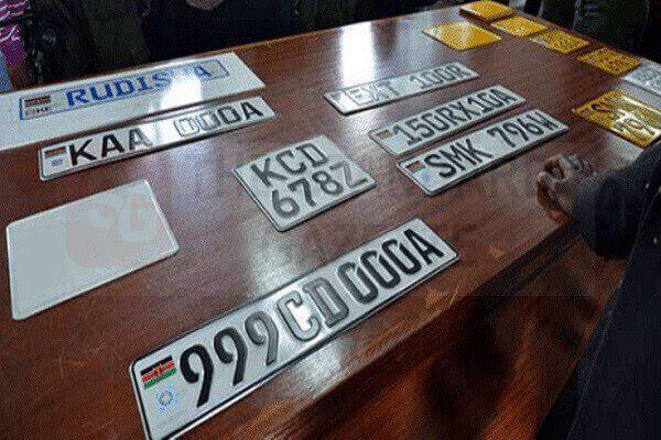 Licence plate in Kenya
