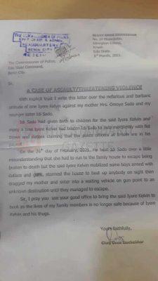 Petition Against Kelvin Iyere