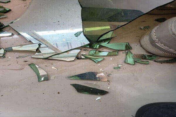 Property destroyed