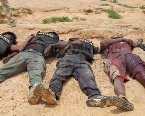Officers killed by gunmen