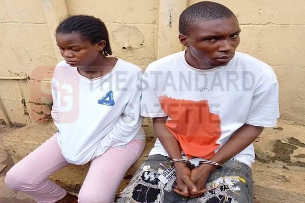 The suspects, Uche Kenneth and Rita Owhiri