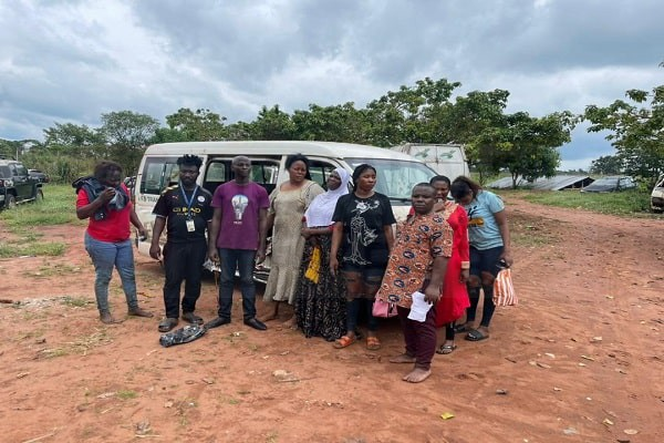 The victims resuced by the Edo State police