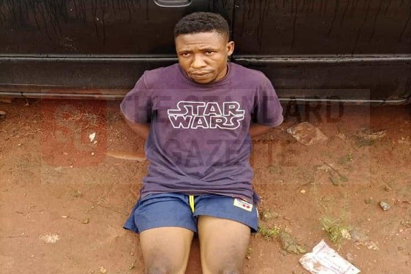 Akpan Confidence, 24, arrested on suspicion of rape and robbery