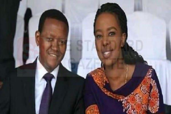 Alfred Mutua and Lilian Nganga