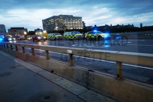Emergency Vehicles Seen At Westminster Bridge
