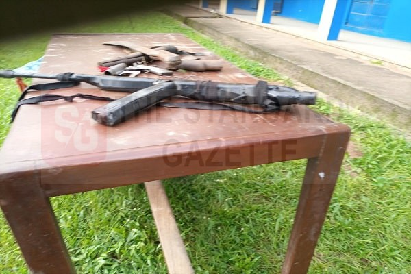 Guns recovered from the kidnappers